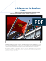 Los Resagos de La Censura de Google en China