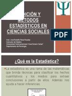 Medición y Métodos Estadísticos en Ciencias Sociales