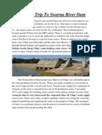 Field Trip to Swarna River Dam New