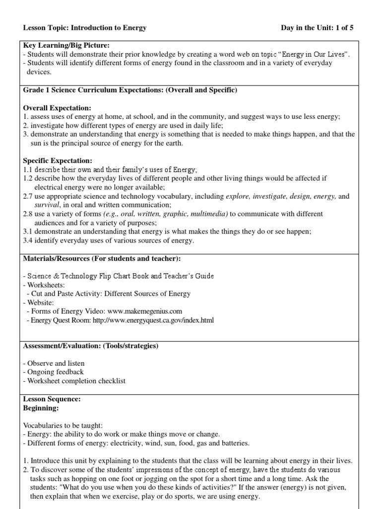 HH G1 Science 1 | Vocabulary | Energy Development