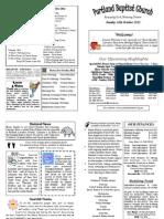 PBC Bulletin - October 14 2012