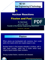 Nuclear Reactions; Fission and Fusion, Dr Xoubi
