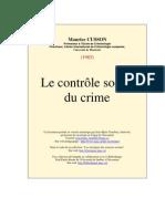 Controle Social Du Crime