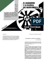 El anarquismo y la política del resentimiento por Saul Newman