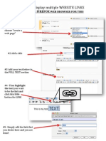 Sample Instructional Document