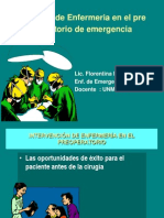 Atencion de Enfermeria en El Pre Operatorio De