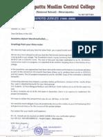 A Letter from AKK MCC for Old Boys