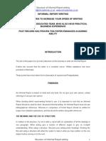 Informal Report Writing