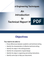 MET - An Introduction to Technical Report Writing