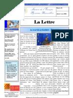 La lettre trimestrielle / Janvier - Mars 2006