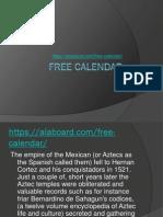 Free Calendar – First Come Have a Bonus