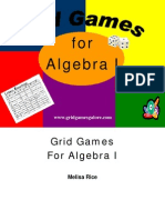 Algebra Grid Games for fun math review