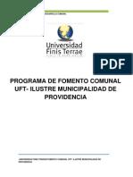 Conciencia - Eje Fomento Comunal - FEUFT - Municipalidad de Providencia