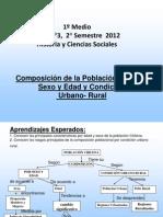1º Medio Guía N° 3 Composición de la Población Chilena