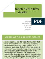 Presentation on Business Games
