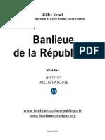 Banlieue Republique Resume Institut Montaigne