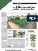Cuatro Distritos de Lima Ya Empiezan a Promover Los Techos y Azoteas Verdes