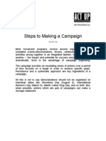 Steps to Making Campaign