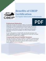 Benefits of CBEIP Certification