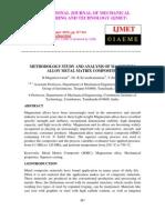 METHODOLOGY STUDY AND ANALYSIS OF MAGNESIUMALLOY METAL MATRIX COMPOSITES