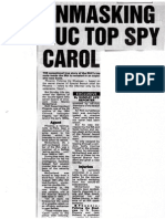 Top Cop, Head of TCG, named 'Agent Carol' (AKA  Martin McGartland) as on Special Branch's best spies