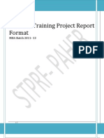 Summer Training Project Report Format