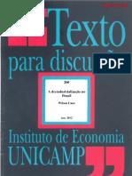 A desindustrialização no brasil