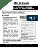 DeBlasioFAQ Hurricane Sandy Lost Wages SPANISH