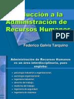 Introducción a la Administracion de Recursos Humanos