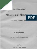 Schlesiens Münzen und Münzwesen vor dem Jahre 1220 / von F. Friedensburg