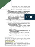 Evangelio de MATEO Introduccion IBE Callao