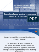 Examples of Good Practice in Secondary School