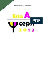 Programa Lista a CEPSI 2013