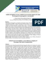 Artigo ADM2012 - Análise da logística reversa - estudo de caso em uma empresa de transporte de passageiros e encomendas