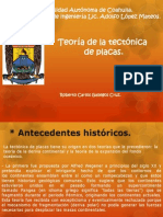 Roberto Carlos Gallegos Cruz. Teoria de La Tectonica de Placas