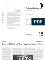 The Platypus Review, № 18 — December 2009 (reformatted for reading; not for printing)