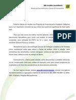 BB Crédito mobiliário - Relação de Documentos para o Estudo do Financiamento