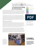 Thin Film Photovoltaics
