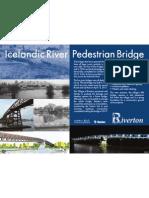 Icelandic River Pedestrian Bridge