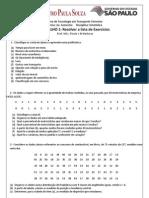 Lista de Exercícios - Estatistica - TT - Descritiva e Correlação