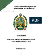 Reglamento Concurso Público de plazas Docentes