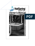Hot Springs Spa/Hot Tub Owners Manual - 1999