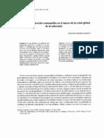 Federalismo y Derecho Cosmopolita en El Marco de La Crisis Global de La Soberania