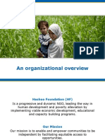 Hashoo Foundation Organizational  Overview - Focus on Women's Empowerment
