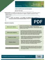 Clasificación de información referencial