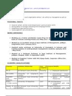 Shiv Prasad's CV