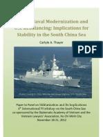 Thayer China's Naval Modernization and U.S. Strategic Rebalancing