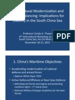 Thayer China's Naval Modernization and U.S. Strategic Rebalancing Power Point Slides
