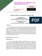 JOURNAL IMPACT FACTOR (JIF) IN DIGITAL ERA