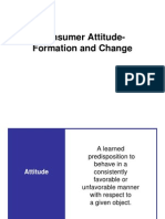 Consumer Attitude- Formation and Change